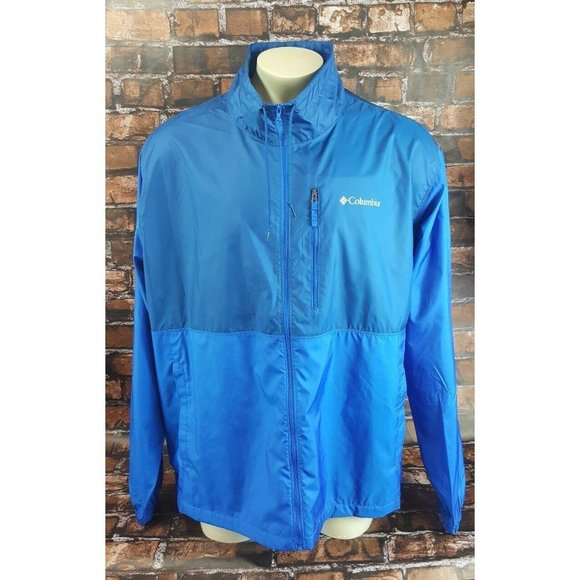 Columbia Nylon Windbreaker Jacket Adult Size 2XL